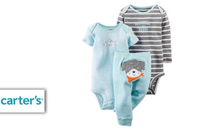 2 סט 2 בגדי גוף ומכנס לתינוק קרטרס - Carter's