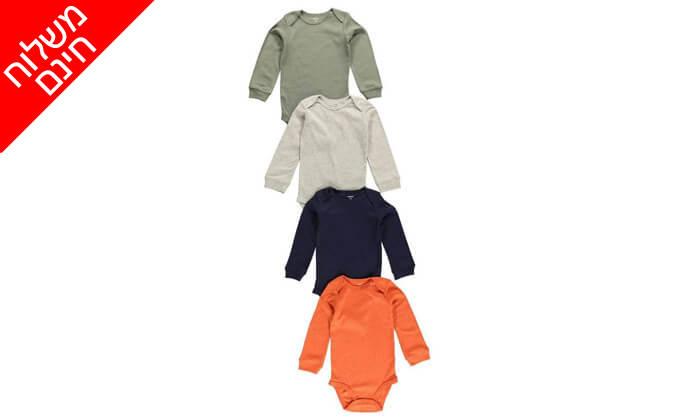 4 מארז 4 בגדי גוף לתינוק קרטרס - Carter's - משלוח חינם!