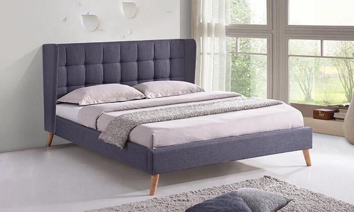 4 מיטה זוגית מרופדת HOME DECOR