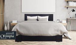 מיטת עץ עם מזרן