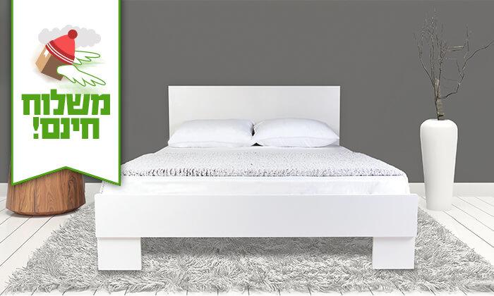 4  מיטה זוגית מעץ - משלוח חינם!