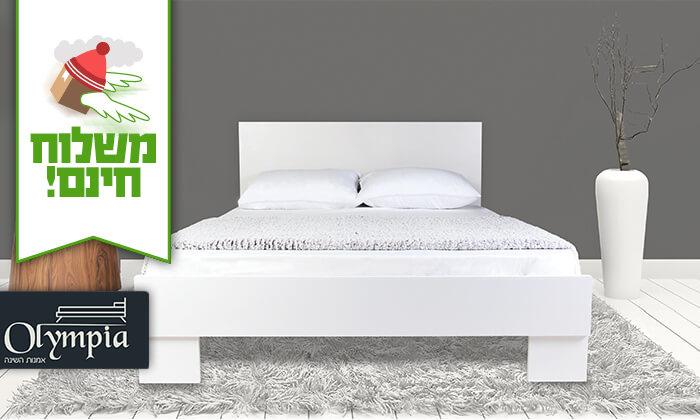 2  מיטה זוגית מעץ - משלוח חינם!