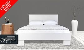 מיטה מעץ עם משענת ראש