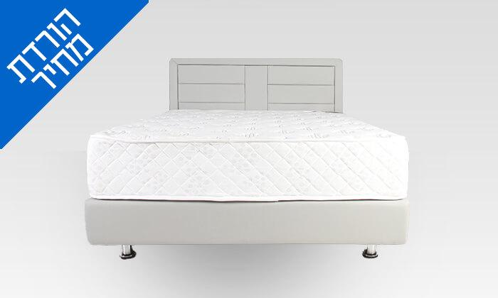 3 מיטה זוגית מרופדת כולל מזרן וארגז מצעים