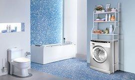 מעמד לאחסון מעל מכונת הכביסה