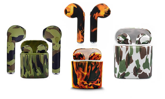 6 אוזניות Bluetooth בצבעי הסוואה