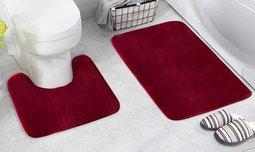 סט 2 שטיחונים לחדר האמבטיה
