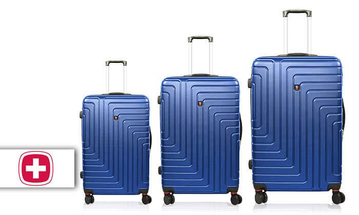 2 סט 3 מזוודות קשיחות SWISS