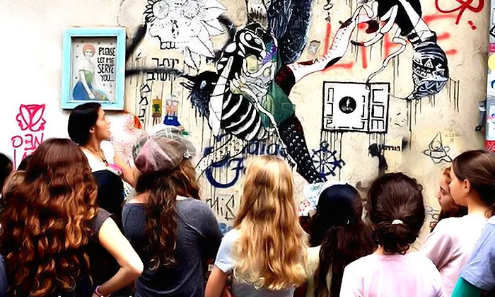 3 מיוריאל גרפיטי - סדנת גרפיטי לכל המשפחה, שכונת פלורנטין תל אביב