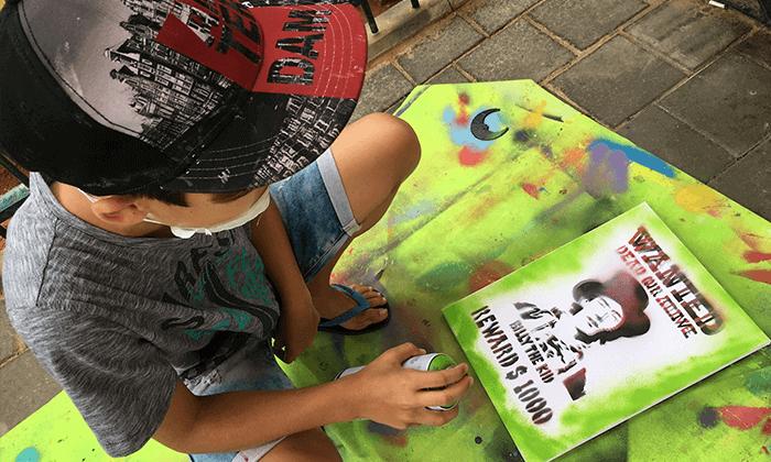 15 מיוריאל גרפיטי - סדנת גרפיטי לכל המשפחה, שכונת פלורנטין תל אביב