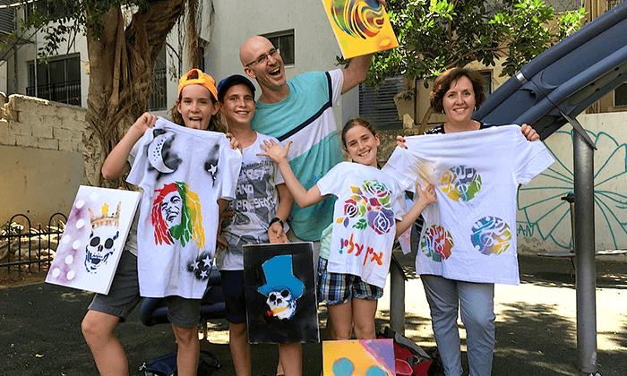 17 מיוריאל גרפיטי - סדנת גרפיטי לכל המשפחה, שכונת פלורנטין תל אביב