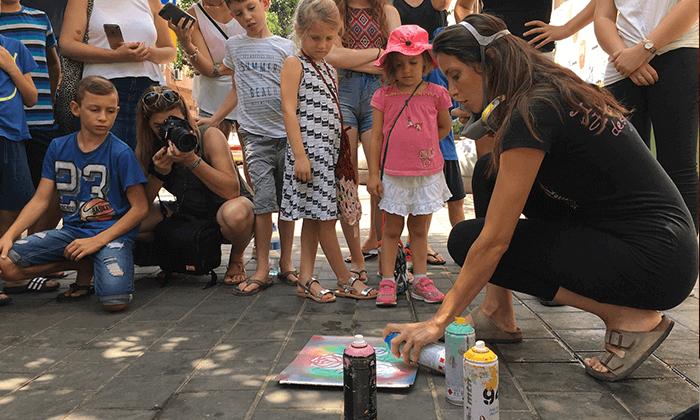 19 מיוריאל גרפיטי - סדנת גרפיטי לכל המשפחה, שכונת פלורנטין תל אביב