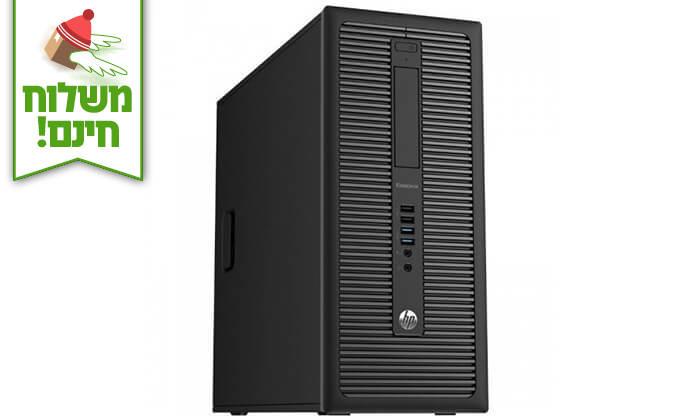 4 מחשב נייח HP עם מקלדת ועכבר אלחוטי - משלוח חינם