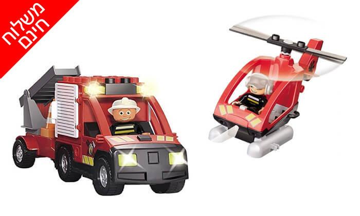 3 תחנת כיבוי אש לילדים, משחק הרכבה KIKO - משלוח חינם!