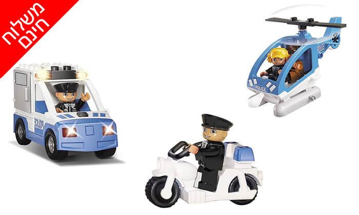 3 צוות משטרה להרכבה לילדים KIKO - משלוח חינם!