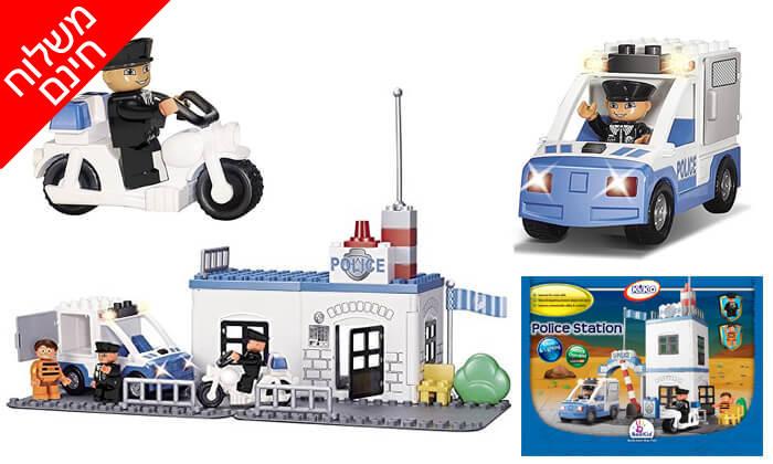 2 תחנת משטרה לילדים משחק הרכבה KIKO - משלוח חינם!