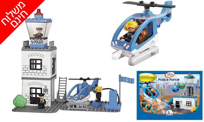 2 צוות אוויר משטרתי להרכבה לילדים KIKO - משלוח חינם!