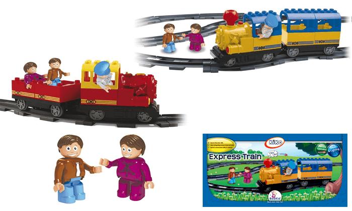 2 רכבת ומסילה להרכבה לילדים KIKO - משלוח חינם!