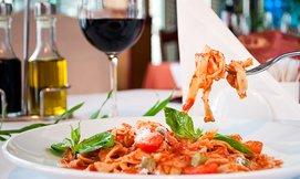 ארוחה איטלקית זוגית באספרסו בר