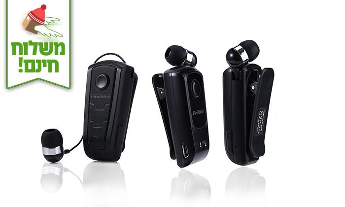 2 אוזניית Bluetooth אלחוטית - Fineblue - משלוח חינם!