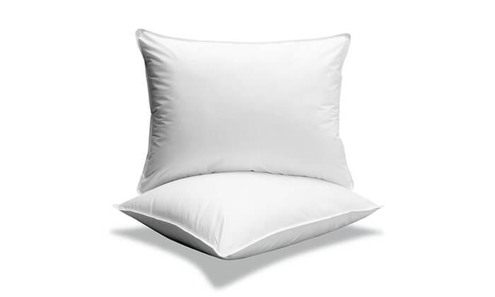 2 כרית שינה במילוי פלומה ונוצות