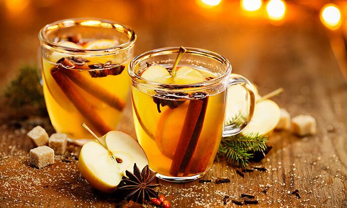 3 כוס סיידר תפוחים או קערת סופר פוד ב-Enerjuicer, בר משקאות הבריאות והמיצים הטבעיים בכיכר רבין