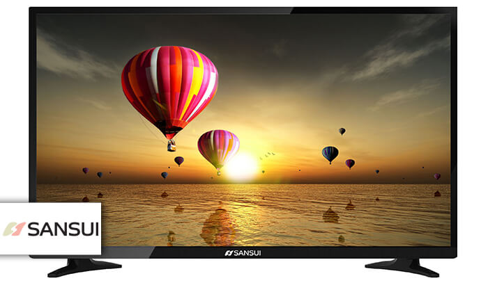 2 טלוויזיה 4K חכמה SANSUI, מסך 43 אינץ'
