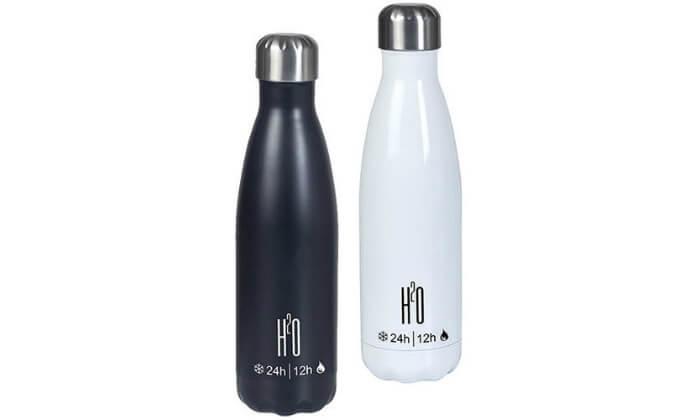 2 זוג תרמוסים מנירוסטה H2O