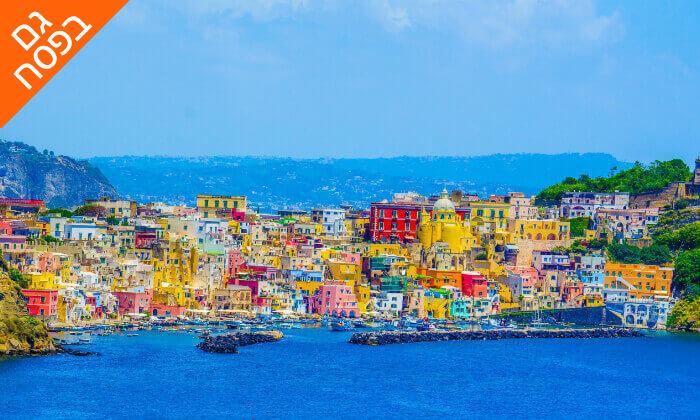 """4 חבילת """"טוס וסע"""" לדרום איטליה, כולל פסח"""