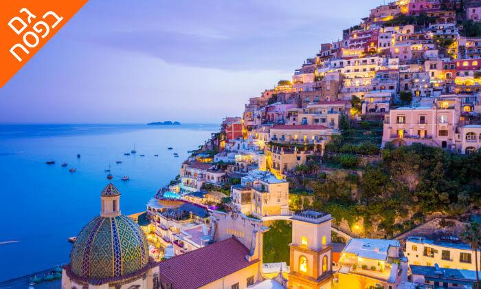 """6 חבילת """"טוס וסע"""" לדרום איטליה, כולל פסח"""