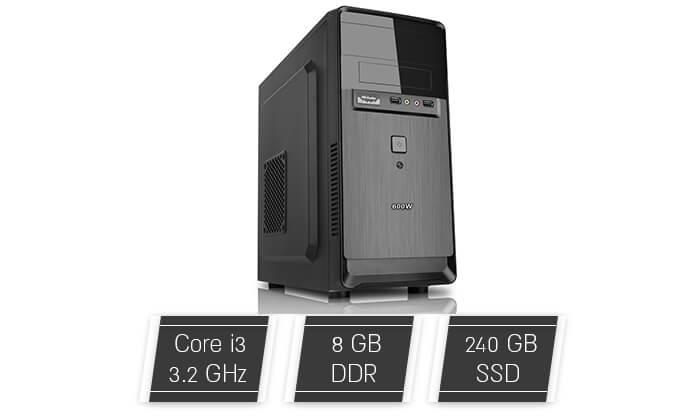 2 מחשב נייח ARKTEK עם מעבד i3