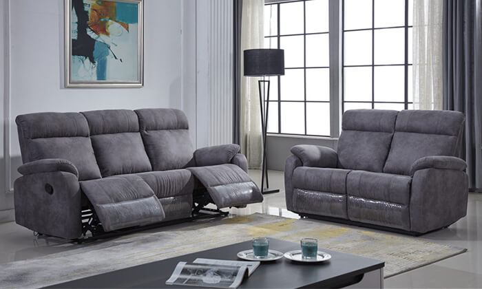 3 ספה דו ותלת מושבית עם ריקליינרים LEONARDO
