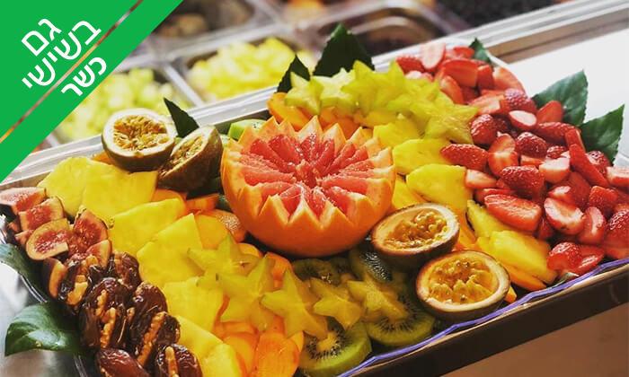2 מגשי פירות כשרים של Enerjuicer, בר משקאות בריאות ומיצים טבעיים בכיכר רבין