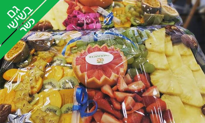 6 מגשי פירות כשרים של Enerjuicer, בר משקאות בריאות ומיצים טבעיים בכיכר רבין