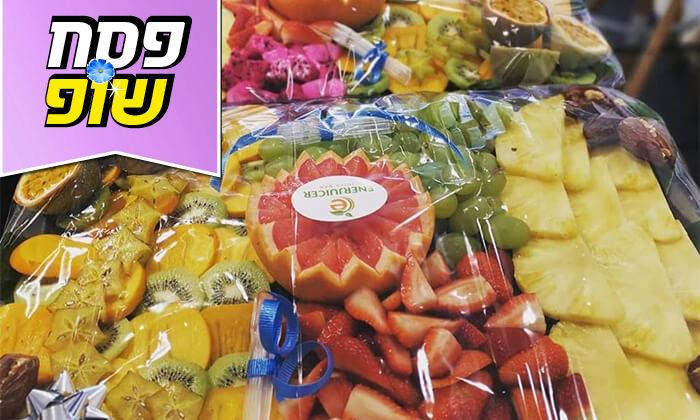 6 מגשי פירות של Enerjuicer, בר משקאות הבריאות והמיצים הטבעיים בכיכר רבין