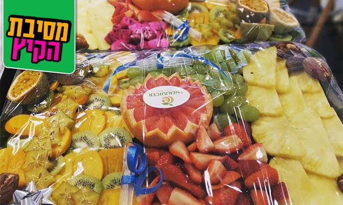 6 מגשי פירות של Enerjuicer, בר משקאות בריאות ומיצים טבעיים בכיכר רבין