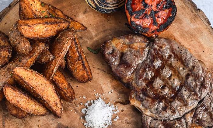 4 ארוחת בשרים זוגית כשרה במסעדת סבא חביב, טבריה