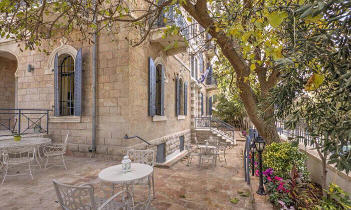 """6 חופשה באווירה ירושלמית רומנטית, במלון בוטיק מפנק, כולל סופ""""ש"""