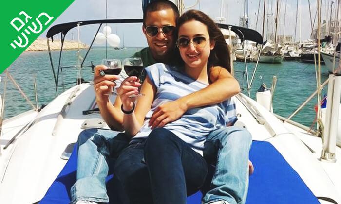 5 שיט זוגי ביאכטה וכרטיס לסרט - לי-יםהשכרת יאכטות, מרינה הרצליה