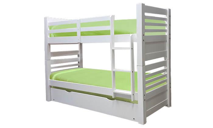 2 מיטת קומותיים מעץ מלא עם מיטת חבר House Design