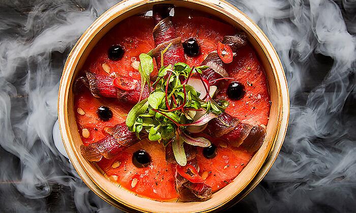 8 GROO PREMIUM: ארוחת שף זוגית במסעדת המקדש הכשרה, כפר סבא