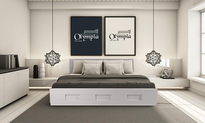 3 מיטת עץ