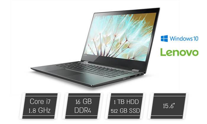 2 מחשב נייד LENOVO לנובו עם מסך מגע מתהפך 15.6 אינץ'
