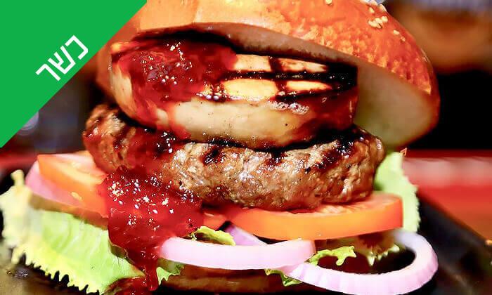 4 Giggsiסינמה ספורטבר הכשר בבאר שבע - ארוחת המבורגר ובירה