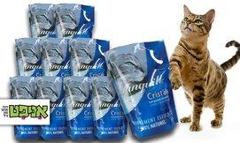 10 חבילות חול קריסטל לחתול