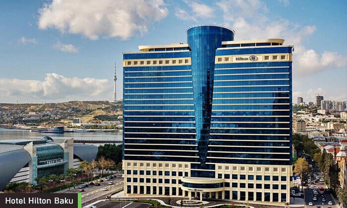 7 5 כוכבים ב-Hilton באקו - שילוב מושלם של פריז, דובאי ומלון מפנק, כולל סופ''ש