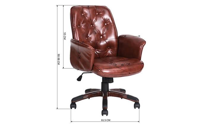 3 כיסא משרדי מרופד HOMAX