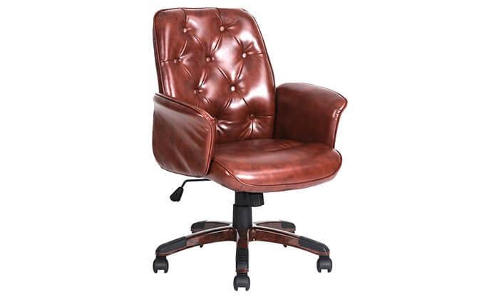 6 כיסא משרדי מרופד HOMAX