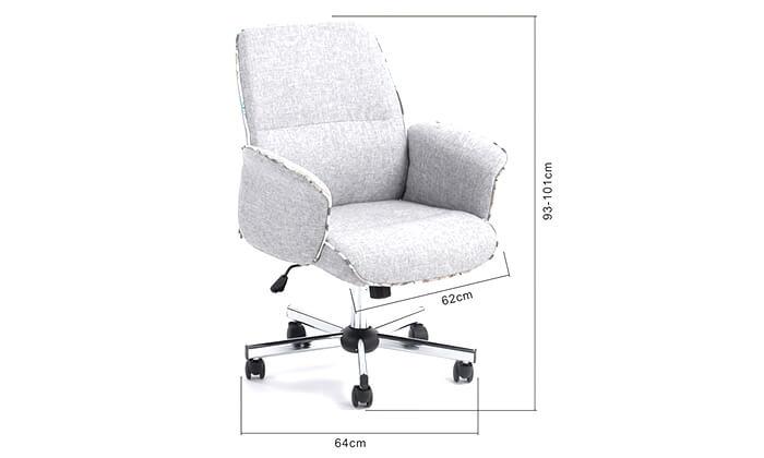 7 כיסא משרדי מרופד HOMAX