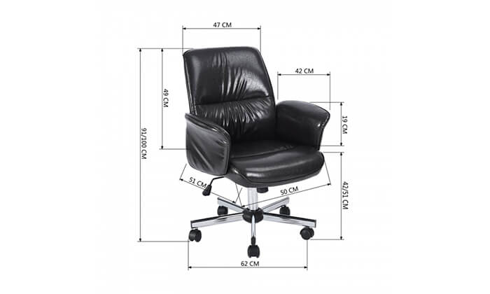9 כיסא משרדי מרופד HOMAX